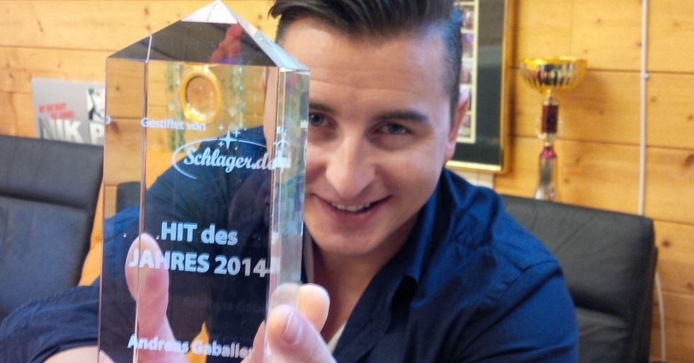 Andreas Gabalier bedankt sich für Schlager.de-Auszeichnung
