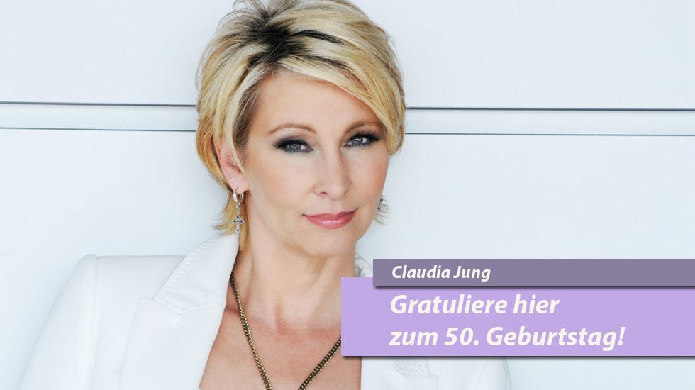 "Gratuliere Claudia Jung auf Schlager.de zur ""halben Hundert"""