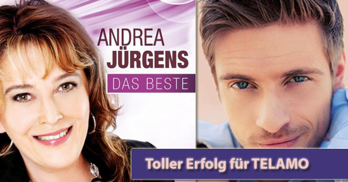 Doppelte Freude bei TELAMO über Andrea Jürgens und Jörn Schlönvoigt