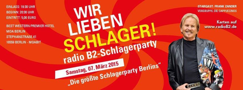 Gewinne Tickets für die radio B2 SchlagerParty mit Frank Zander