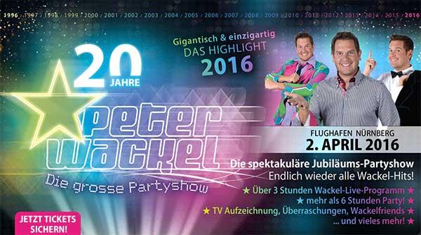 20 Jahre Peter Wackel – die große Partyshow!