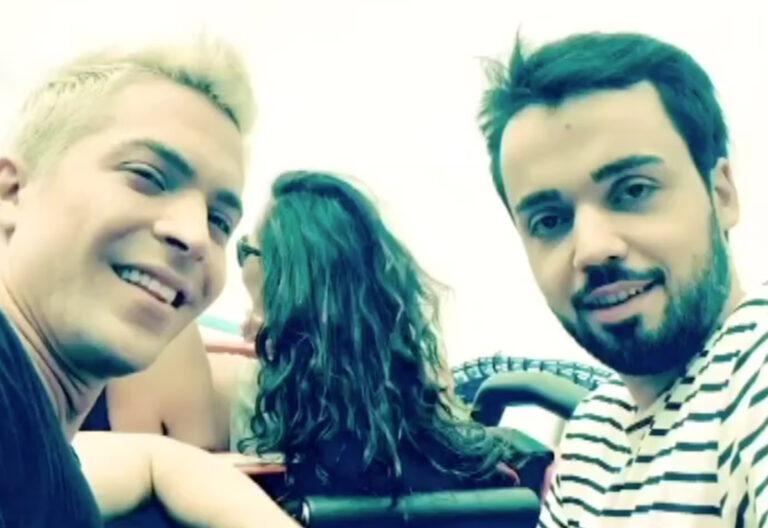 Julian David und Jonathan Zelter – live aus der Achterbahn