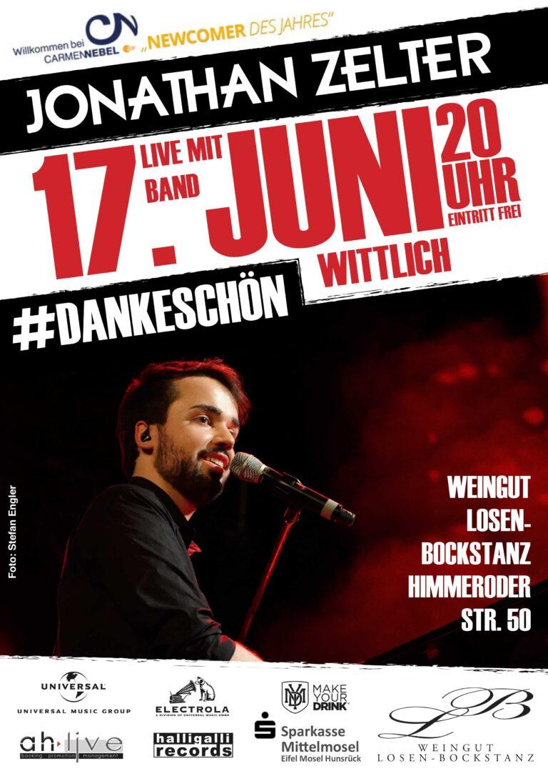 "Ein ""DANKESCHÖN""-Konzert: Jonathan Zelter feiert in Wittlich"