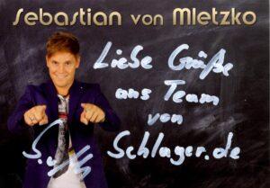 Autogrammkarten von Sebastian