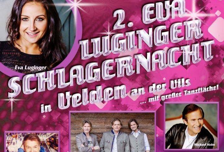 """Die """"EVA LUGINGER SCHLAGERNACHT"""" in VELDEN geht in die 2. Runde!"""