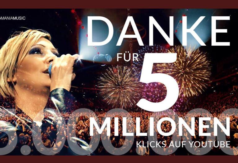 Tanja Lasch bedankt sich für 5 Mio. Klicks