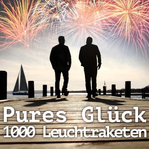 Pures Glück – Mit 1000 Leuchtraketen in den Himmel