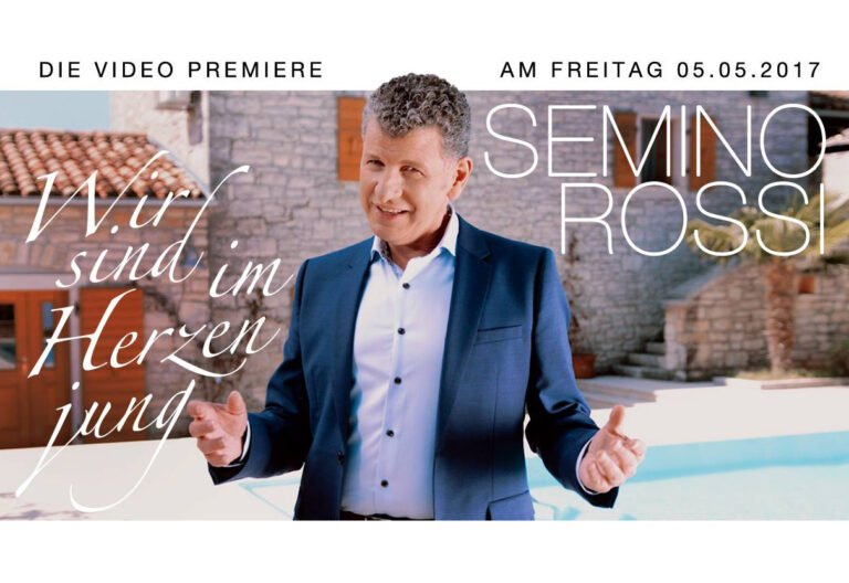 """Videopremiere von Semino Rossi und """"Wir sind im Herzen jung"""" auf Schlager.de"""