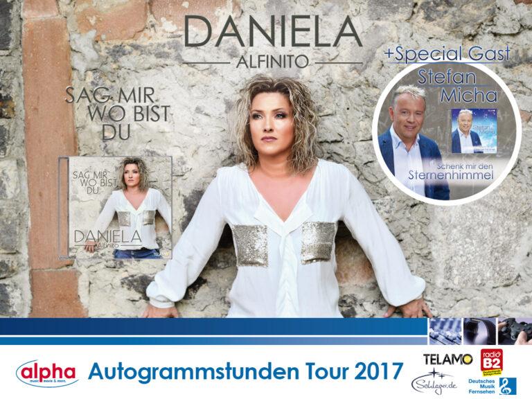Daniela Alfinito und Stefan Micha auf alpha-Autogrammstunden-Tour 2017