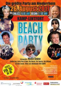 Plakat der großen Beach-Party