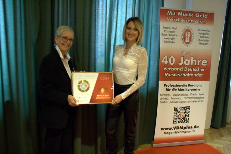 Madeline Willers gewinnt den VDM-AWARD 2017
