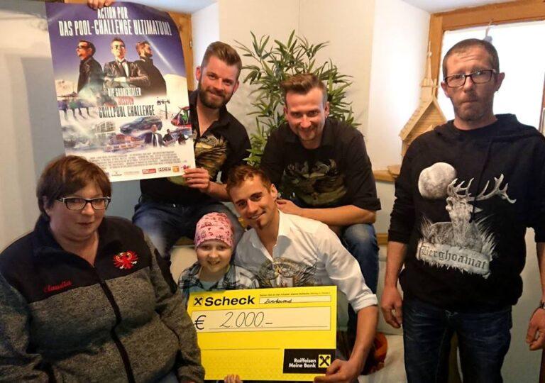 Grubertaler spenden 2000 € für krebskranke Leonie