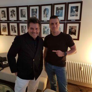 Thomas Anders mit Schlager.de-Redakteur Marcel Stephan