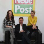 Anita & Alexandra Hofmann mit Roland Hag (Chefredakteur NEUE POST)