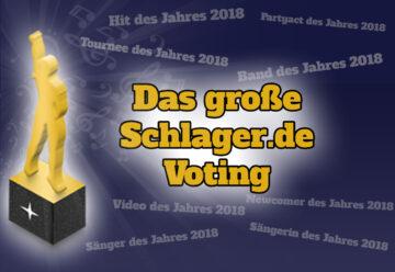 Schlager.de-Voting: DAS sind EURE Gewinner 2018!