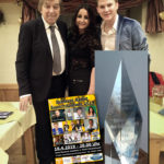 Eva Luginger mit Bata Illic und Robin Leon