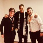 (v.l.) Ressortleitung Thorge Schramm, David Hasselhoff und Schlager.de-CEO Gregor Nebel