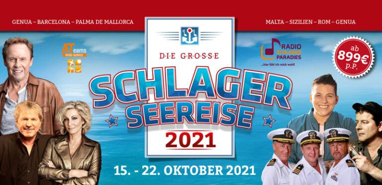 Die Schlager-Seereise 2021 – Etablierte und Newcomer