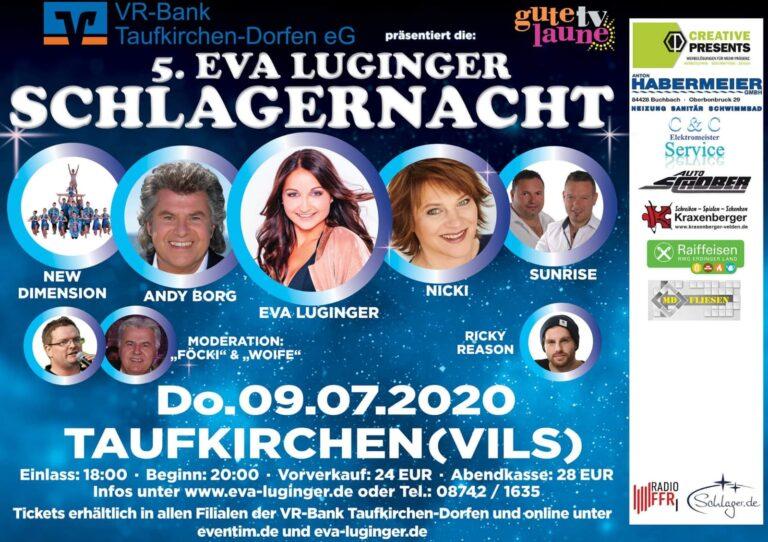 Eva Luginger lädt ein zur 5. Schlagernacht