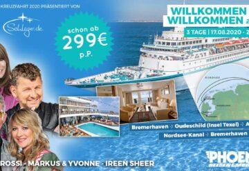 Willkommen an Bord – Willkommen zu Hause | Die Schlager-Kreuzfahrt 2020
