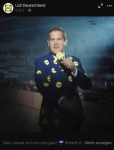 Peter Wackel Werbung für Lidl