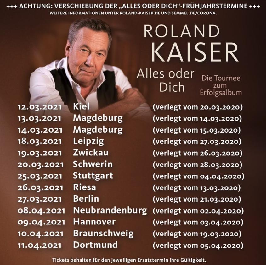 Roland Kaiser neue Termine