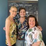 Chefredakteurin Katrin Voigt mit Julian Reim und Redakteurin Jana Scholz