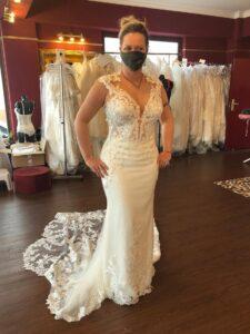Yvonne König in ihrem Brautkleid