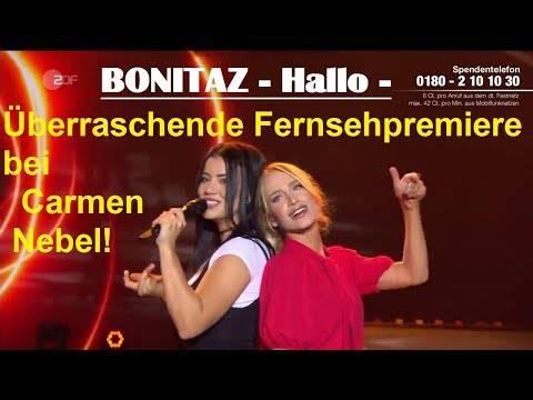 Bonitaz – Hallo (Fernsehpremiere bei Carmen Nebel)
